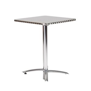 Eurostyle Arden Square Dining Table in Stainless Steel