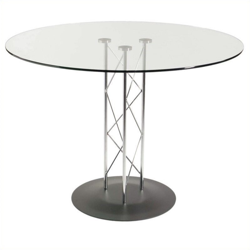 Eurostyle Taby 48 Inch Casual Dining Table with Glass Top 08048G-08023D-08021A-KIT