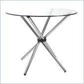 Eurostyle Hadi 36 Round Casual Dining Table with Glass Top
