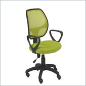 Eurostyle Percy Mesh Office Swivel & Gas Lift Chair in Green/Black