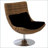 Eurostyle Fenia Lounge Chair in Triple Brown Polyethylene