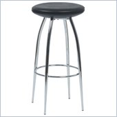 Eurostyle Bernie-B Bar Chair in Black/Chrome