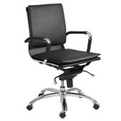 Eurostyle Gunar Pro Low Back Office Chair in Black/Chrome