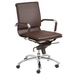 Eurostyle Gunar Pro Low Back Office Chair in Brown/Chrome