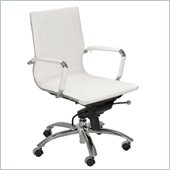 Eurostyle Owen Low Back Office Chair in White/Chrome