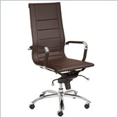 Eurostyle Owen High Back Office Chair in Brown/Chrome