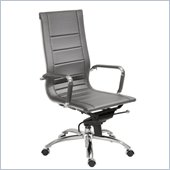 Eurostyle Owen High Back Office Chair in Gray/Chrome