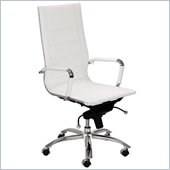 Eurostyle Owen High Back Office Chair in White/Chrome