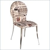 Eurostyle Farid Side Chair in Fabric/Chrome
