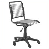 Eurostyle Bungie Low Back Office Chair in Silver/Graphite Black