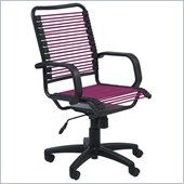 Eurostyle Bradley Bungie Office Chair in Pink/Graphite Black