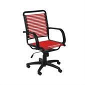 Eurostyle Bungie Flat High Back Chair in Red