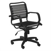 Eurostyle Bungie Flat Mid Back Chair in Black/Graphite