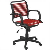 Eurostyle Bungie Flat Mid Back Chair in Red/Graphite