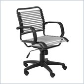Eurostyle Bungie Flat Mid Back Chair in Silver/Graphite Black