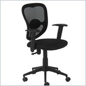 Eurostyle Quincy Office Chair in Black/Black