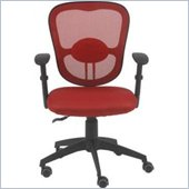 Eurostyle Quincy Office Chair in Red/Black
