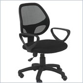Eurostyle Percy Office Chair in Black/Black