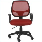 Eurostyle Percy Office Chair in Red/Black