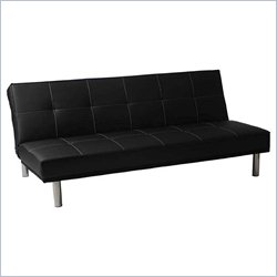Eurostyle Sven Sofa Bed in Black/Stainless Steel