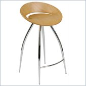 Eurostyle Rubin-C Counter Chair in Natural/Chrome