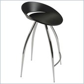 Eurostyle Rubin-C Counter Chair in Black/Chrome