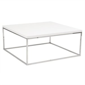 Eurostyle Teresa Square Coffee Table in White Lacquer