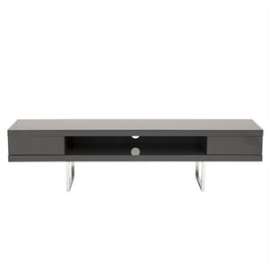 Eurostyle Miranda Media Stand in Gray Lacquer