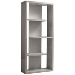 Eurostyle Robyn Shelving Unit in Gray Lacquer