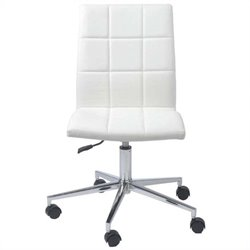 Eurostyle Cyd Office Chair in White/Chrome