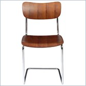 Eurostyle Erling Side Chair in Walnut/Chrome