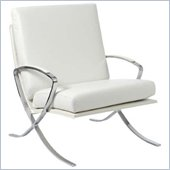 Eurostyle Pietro Lounge Chair in White Leather