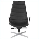 Eurostyle Domino Lounge Chair in Black/Chrome