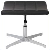 Eurostyle Domino Ottoman Footrest in Black/Chrome