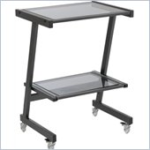 Eurostyle Luigi Laptop Cart in Graphite Black/Smoked Glass