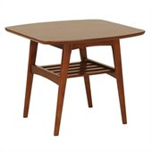 Eurostyle Carmela Side Table in Walnut