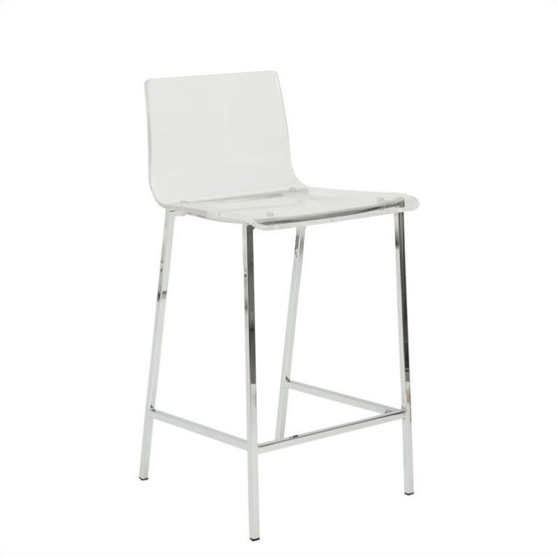 26 Counter Stool In Clear