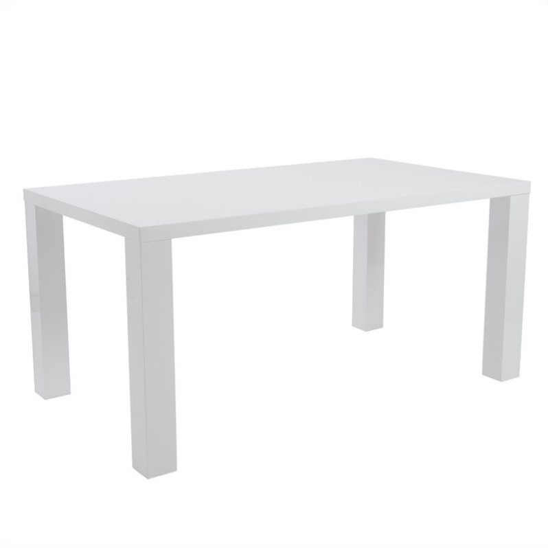 eurostyle abby 63 rectangular white lacquer dining table