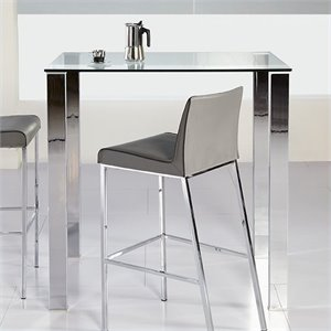 Eurostyle Beth Glass Bar Table in Clear