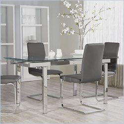 Eurostyle Danube Rectangular Dining Table in Clear Glass