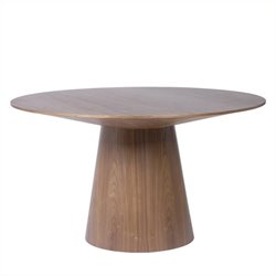 Eurostyle Wesley Round Pedestal Dining Table in Walnut