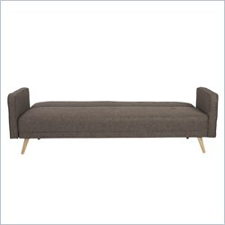 Eurostyle Bertram Sofa Bed With Armrest in Brown