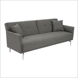 Eurostyle Lafau Sofa Bed With Armrest in Dark Gray