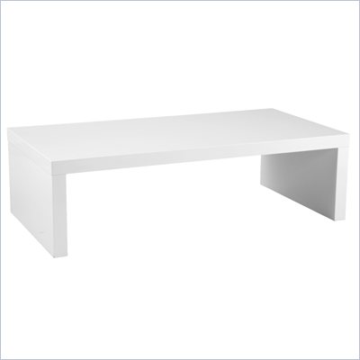 Eurostyle Abril Lightweight White Rectangular Wood Coffee Table
