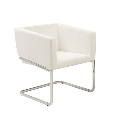 Eurostyle Ari Lounge Chair in White/Chrome