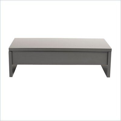 Eurostyle Aurora Coffee Table in Gray Lacquer