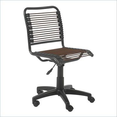 Eurostyle Bungie Low Back Office Chair in Brown/Graphite Black