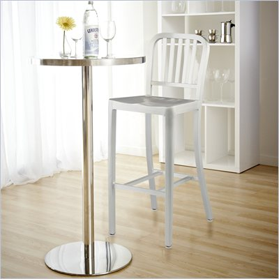 Eurostyle Camy Matte Aluminum Cafe Bar Height Stool