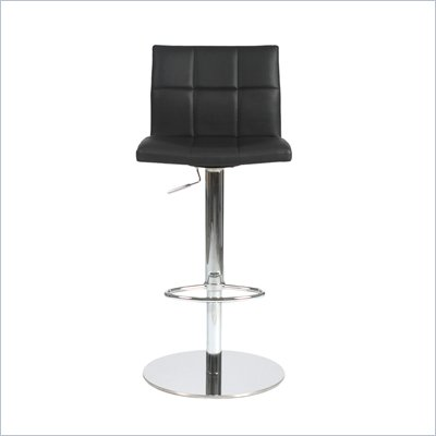 Eurostyle Cyd Bar/Counter Chair in Black/Chrome