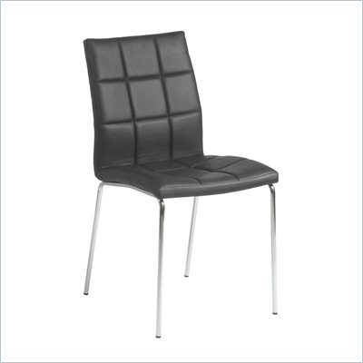 Eurostyle Cyd Side Chair in Black/Chrome